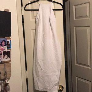 Boohoo Crepe Low Back Midi Bodycon Dress. Size 2